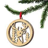 Koola 's Holz Christmas Anhänger Geschenke doppelten Laser durchbrochen Weihnachtsbaum Home Deco artwork- 3
