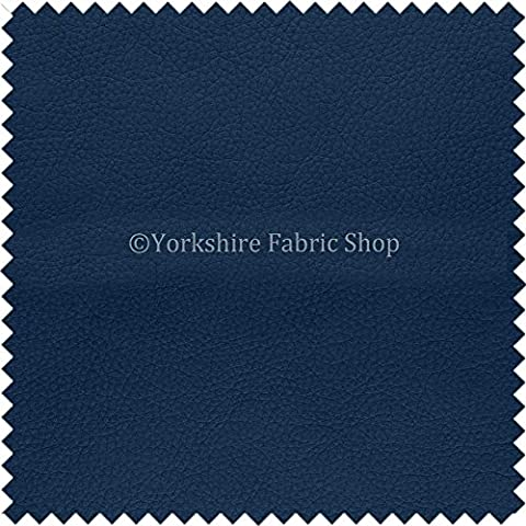 Paris Navy Blue Soft Faux Leather PU Grain Finish Look Upholstery Material Headboards Beds Sofas Cushions by Yorkshire Fabric Shop