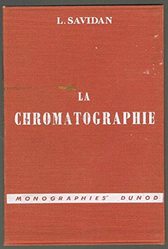 La chromatographie par  (Cartonné - Jan 1, 1963)
