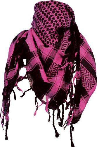 Pali Tuch / PLO Winterschal / Halstuch in schwarz/pink