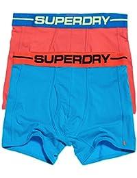 Superdry Sport Boxer Shorts Underwear Double Pack Hawaii Blue/Coastal Pink