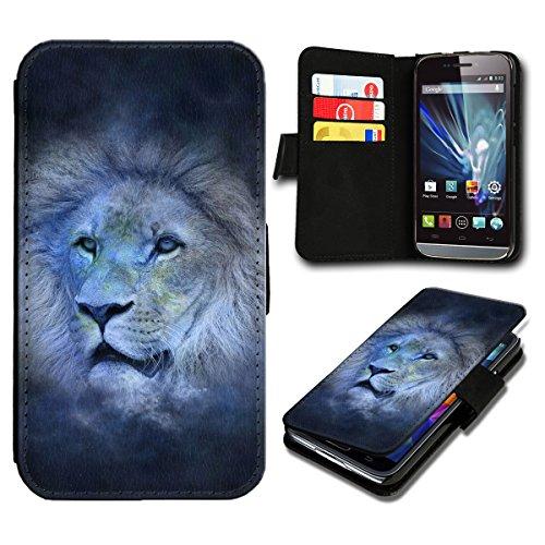 Book Style Sony Xperia E3 Premium PU-Leder Tasche Flip Brieftasche Handy Hülle mit Kartenfächer für Sony Xperia E3 - Design Flip SB596