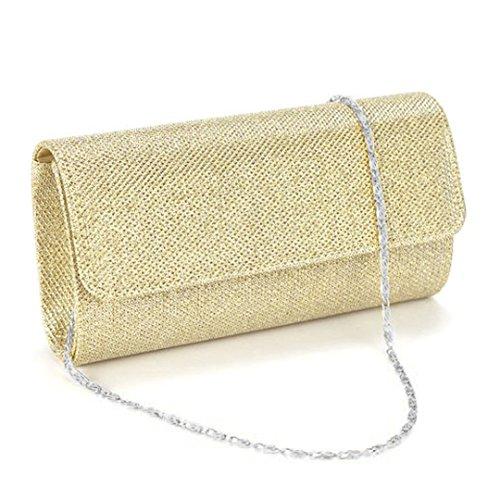 Multi-mo, Borsetta da polso donna Champagne oro