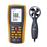 Digital Anemometer LCD Wind Geschwindigkeitsmesser Handy Luftstrom Geschwindigkeitsmessgerät mit USB Schnittstelle & Datensatz für Windsurfen / Kite / Fliegen / Segeln / Surfen / Angeln