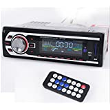 2127 Voiture Autoradio Audio Player Fm / Usb / Sd / Mp3 1 Din 12v à Distance