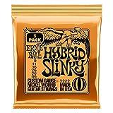 Jeu de cordes pour guitare électrique Ernie Ball Hybrid Slinky Nickel Wound, calibre 9-46