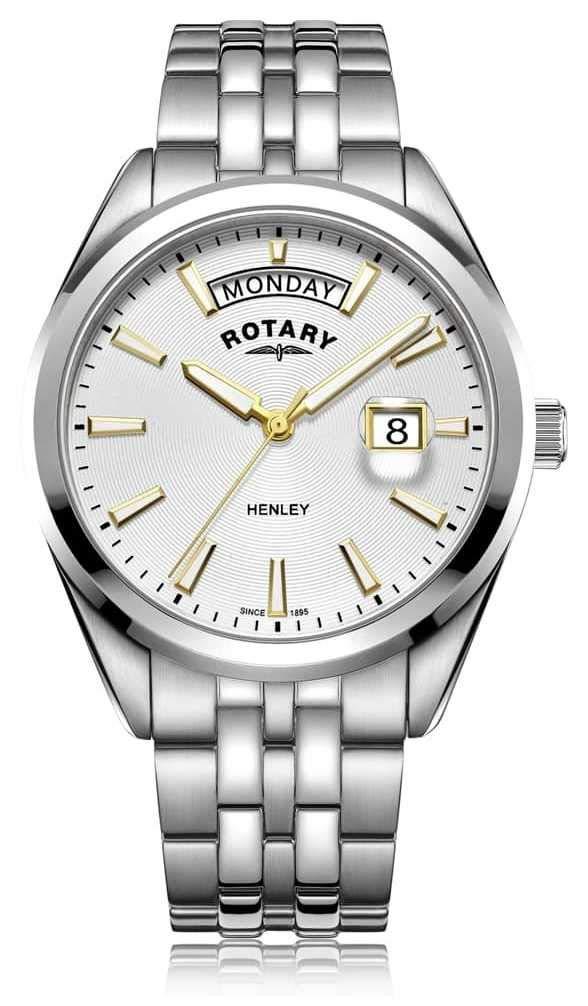 Rotary | Mens Henley | White Dial | Silver Stainless Steel Bracelet GB05290/70
