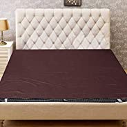 Amazon Brand - Solimo PVC Water Resistant Mattress Protector Sheet, 78 x 72 inches, Brown