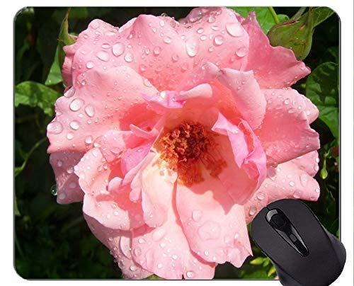 Gaming Mouse Pad Benutzerdefinierte, schöne Natur Rose - Genähte Kanten -