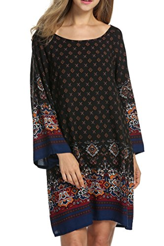 hotouch-women-bohemian-ethnic-style-vintage-printed-loose-tunic-dressblackxl