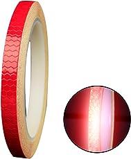 Newin Star Reflektierende Band Sicherheit Reflektierende Warnbeleuchtung Aufkleber Klebeband Rollenstreifen Für Verschönern Fahrrad Dekoration Rot