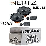 Smart ForTwo 451 Front - Hertz Dieci DSK 165-16cm Lautsprecher - Einbauset