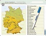 Ich kenne Deutschland - Deutschlands Gebirge: Für die 3. bis 5. Klasse - Stabile wiederbeschreibbare Lernvorlage im großen Format, 32,5 x 25 cm ... ohne zu schmieren und ohne Farbrückstände.