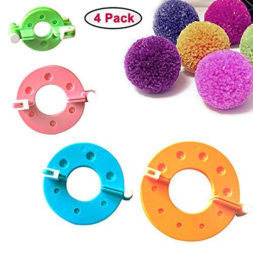 Curtzy Pom Pom Maker Kit 4 Appareils à Pompons de Tailles Différentes - Fluff Ball Weaver - Ensemble d'Outils artisanaux Création de Pompons pour Décorations, Guirlandes, Pendentifs et Plus par  Curtzy