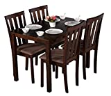 #3: DeckUp Royale 4 Seater Dining Table Set (Rubberwood, Wenge)