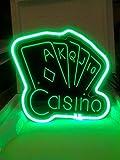 Casino NEON 3D Neonschild LED Neu Schild Reklame Werbung Poker
