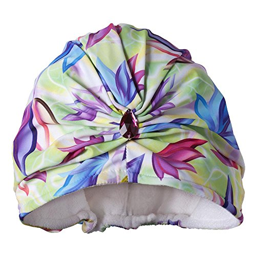 Dillwyn Daydream grünen Luxus Frottee gefüttert Turban (Frottee-turban)