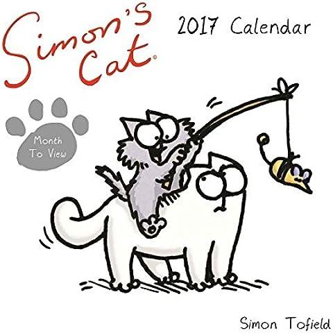 SIMON Gatto della gamma–Scrivania Calendario 2017