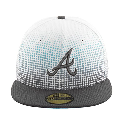 New Era Atlanta Braves Basecap Dot Mixer White / Turquoise - 7 3/8 - 59cm