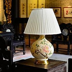 ZWL Lámpara de mesa Dormitorio Europeo Dormitorio Salón Estudio Lámpara Decorativa Moda.z ( Color : B )