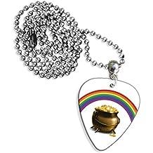 Olla de oro Rainbow Logo collar de púa de guitarra (GD)