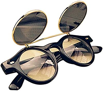 Gleader Gafas Estilo Steampunk De Goth Del Vintage Gafas De Sol para Cosplay De Color Leopardo