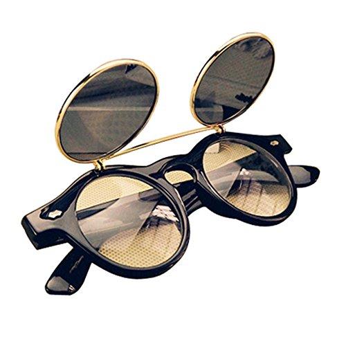 Gleader Gafas Estilo Steampunk De Goth Del Vintage Gafas De Sol para C