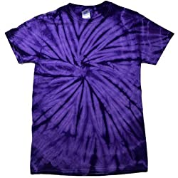 Colortone - Camiseta psicodélica monocolor de manga corta para adultos Uninex - Verano Hippie