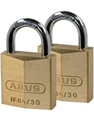 ABUS 84/30C/F Twins Cadenas en laiton 30 mm x 2
