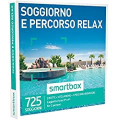 Idea Regalo - smartbox, Soggiorno e Percorso Relax - 725 Soggiorni con Percorso Relax in Hotel 3* e 4*, Cofanetto Regalo, Soggiorni e Benessere