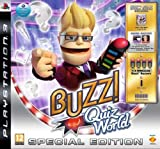 Buzz!: Quiz World Special Edition inkl. Sammlerbox, Werbecode für zwei Quizpakete, 1 Set Wireless-Buzz!-Buzzer