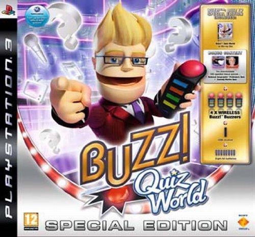 Buzz!: Quiz World Special Edition inkl. Sammlerbox, Werbecode für zwei Quizpakete, 1 Set Wireless-Buzz!-Buzzer
