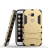 Huawei G8 Hülle,Huawei GX8 Hülle,Huawei G7 Plus Hülle, CHcase Shockproof Rüstung Hybrid 2 In1 TPU und PC Robuste Dual Layer mit Kickstand Case für Huawei G7 Plus -Gold
