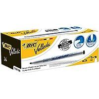 BIC-1721 Whiteboard Pack de 24 marcadores para Pizarra Blanca, Color Negro, (841842)