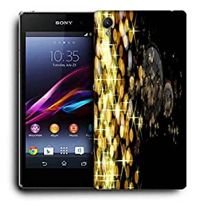 Snoogg Golden Sparkling Designer Protective Phone Back Case Cover For Sony Xperia Z2