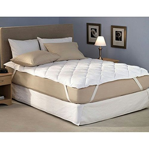 """SS Sales 100% Waterproof Hypoallergenic Poly Cotton Mattress Protector - Queen Size, White 75"""" X 60"""""""