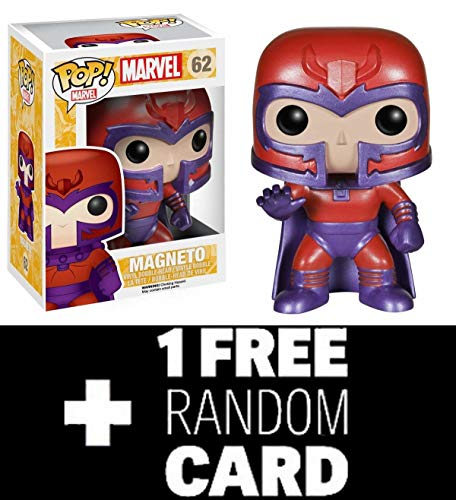 FunkoPOP X-Men: Magneto - Marvel Vinyl Bobble-Head Figure 62 + One Random Marvel Trading Card New