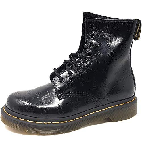 Dr. Martens 1460 QQ Flowers BLACK, Damen Combat Boots, Schwarz (Black), 39 EU (6 Damen UK)