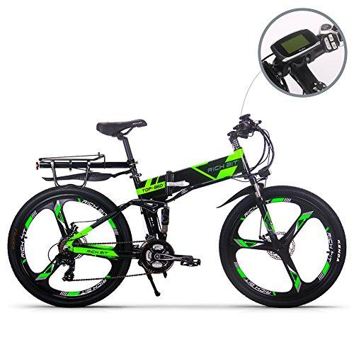 51EDvJVVF9L. SS500  - eBike_RICHBIT 860 Men Folding Electric Bike 17 X 26 Inch Mountain Bike Full Suspension 250 W 36V 12.8AH ebike