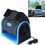 Car Heater Tragbarer Auto-Fahrzeug-LKW-Kühlender Luft-Ventilator 12V Justierbarer Lärmarmer Stiller Kühler-Ventilator 2 Beschleunigt Klimaanlage Für Auto/SUV/ATV,Blue