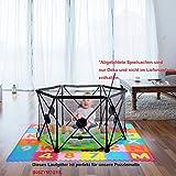 Yorbay Kinder Baby Laufstall Faltbarer Laufgitter 6-seitig mit Kreuz-Gestänge aus Metall, Grün, 19 x 19 x 103 cm Test
