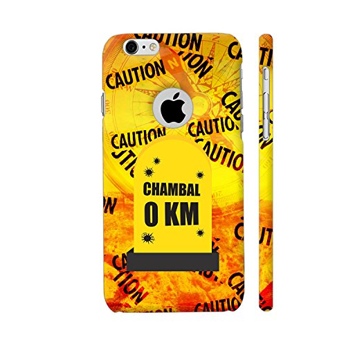 Colorpur iPhone 6 / 6s Logo Cut Cover - Chambal 0 KM Milestone On Orange Printed Back Case