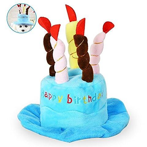 jacksoo Hund Geburtstag hat mit Kuchen & Kerzen Design Party Kostüm Zubehör