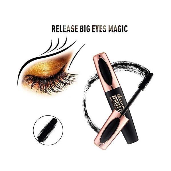4D Silk Fiber Lash Mascara – Waterproof Curling Natural Eye Makeup – Long Lasting, No Blooming, Extra Long and Thick…
