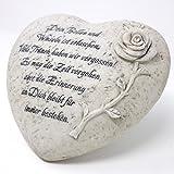 Tiergrabstein Herz mit Spruch, Dein Bellen und.. 17cm. 1 Stück