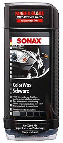 farbige politur SONAX 298200 Colorwax schwarz, 500ml