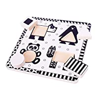 Bigjigs Toys Animals Black and White Puzzle