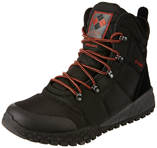 COLUMBIA Herren Casual Schneeschuhe, Wasserdicht, FAIRBANKS OMNI-HEAT, Schwarz (Black, Rusty), 43
