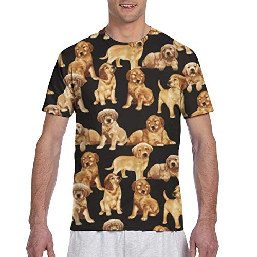 Men Tee Shirts A Lot of Dog Short Sleeve T-Shirts Crew Neck T Shirt