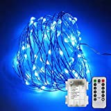 PERFECT DECOR OPTION Flexible copper wire FAIRY LIGHTS. This Led Fairy String lights is made of 50 Ultra Bright White Micro Leds that builds a light fairy twinkle effect. It's the perfect decoration option for bedroom, living room, garden, deck, p...
